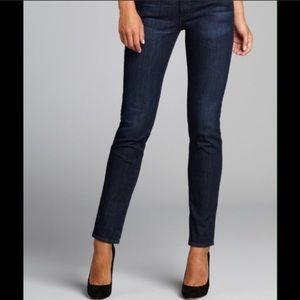 AG Denim the Stilt Cigarette Jean in Dark Wash